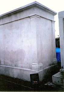 Perrault Tomb after restoration, rear view