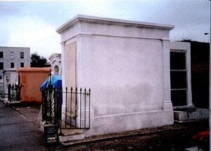 Perrault Tomb after restoration, side view